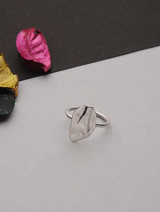 Silver Plated Handcrafted Ring (Ring Size: 7)