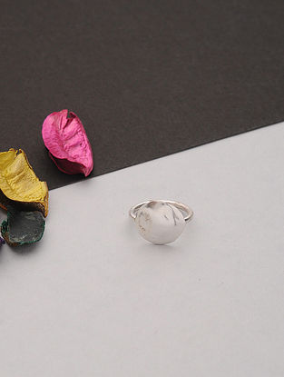 Silver Plated Handcrafted Ring (Ring Size: 6.5)