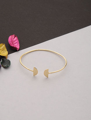 Gold Tone Handcrafted Cuff