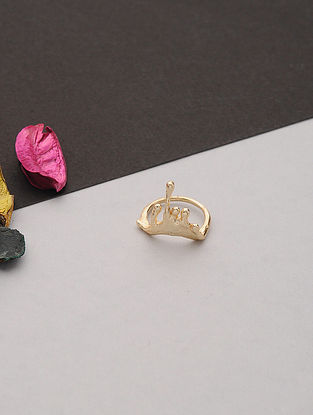 Gold Tone Handcrafted Ring (Ring Size: 8)