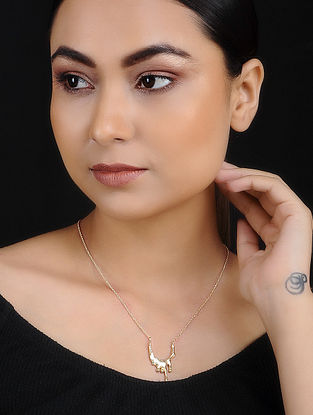 Gold Tone Handcrafted Necklace