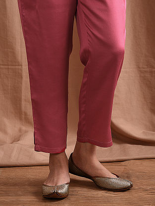 SAANYA - Pink Elasticated Waist Modal Pants