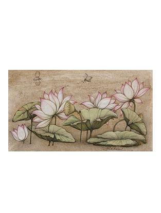 Shri Mahaveer Swamis Sacred Lotus Digital Print on Archival Canvas