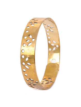 Classic Gold Plated Adjustable Brass Cuff