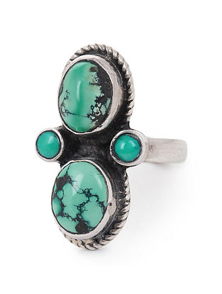 Turquoise Silver Ring (Ring Size -9.5)