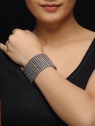 Tribal Silver Bracelet with Bird Motif