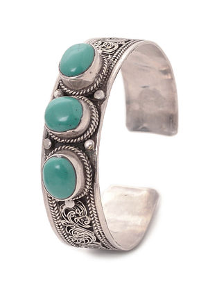 Turquoise Silver Cuff