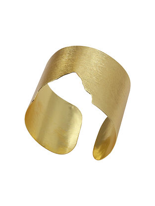 Classic Gold Tone Handcrafted Brass Adjustable Cuff