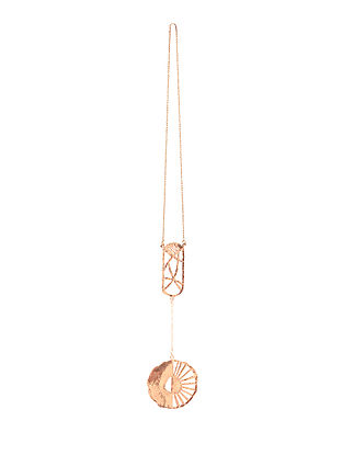 Rose Gold Handcrafted Brass Pendant Necklace