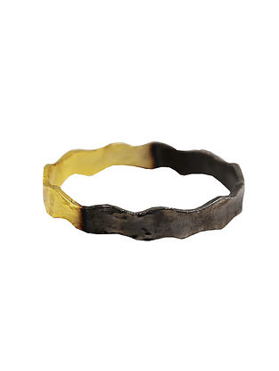 Black-Gold Handcrafted Brass Bangle
