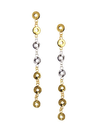 Classic Dual Tone Handcrafted Brass Earrings