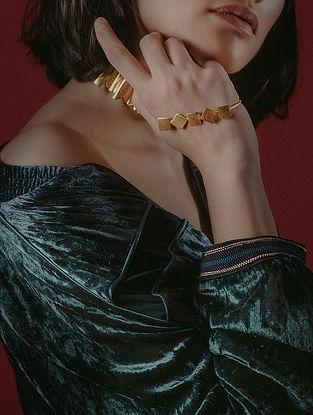 Classic Gold Tone Handcrafted Palm Cuff