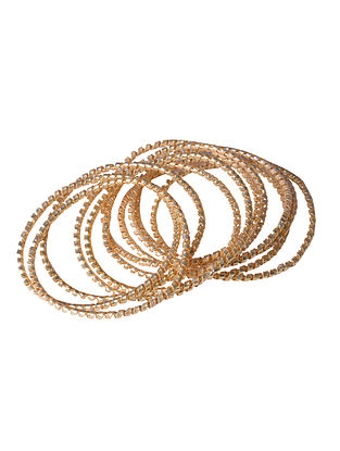 Gold Tone Handcrafted Bangle