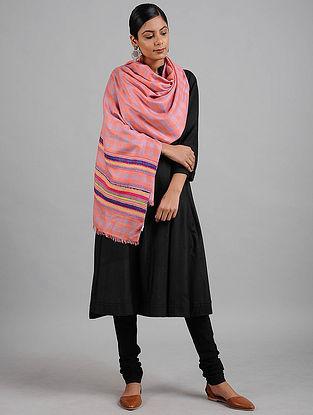 Pink-Blue Wool Stole