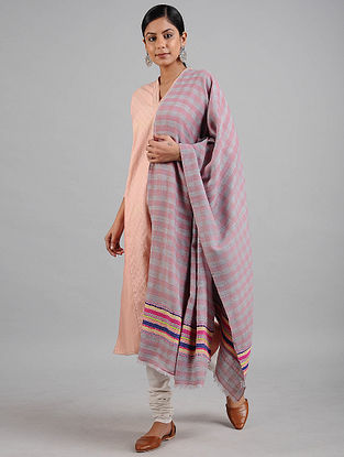 Pink-Grey Wool Stole