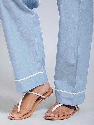 Sky Blue Cotton Pants