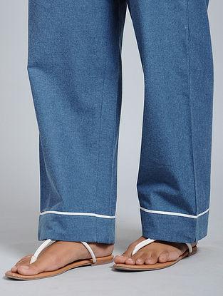 Dark Blue Cotton Pants