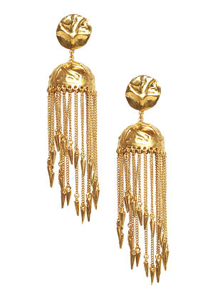 Gold Plated Handcrafted Jhumki Earrings