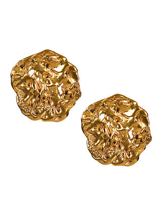 Gold Plated Handcrafted Stud Earrings
