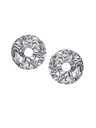 Silver Plated Handcrafted Stud Earrings