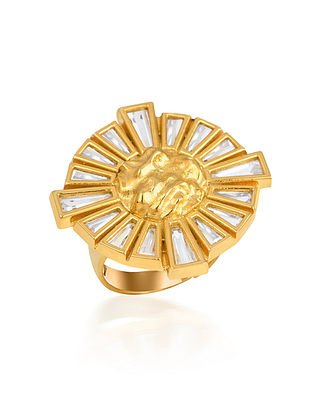 Gold Plated Handcrafted Adjustable Ring