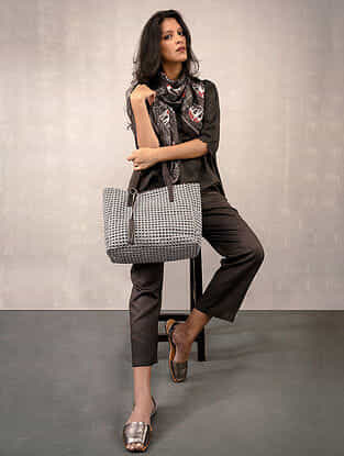 Charcoal Printed Reversible Tote Bag