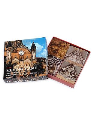 Multicolored CST Mumbai Memory Game - 36 Cards