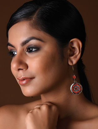 Multicolored Gold Tone Earrings