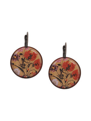 Multicolored Gold Tone Clip Earrings