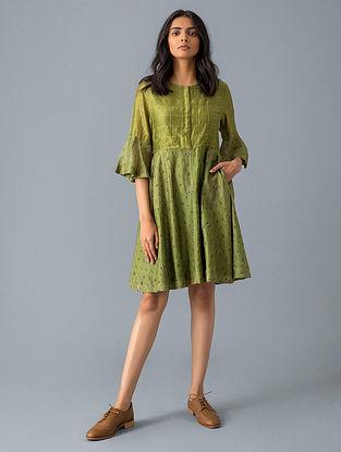 Olive Cotton Dress