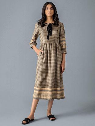 Beige Cotton Maxi Dress