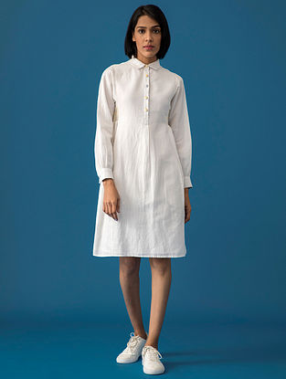 Ivory Cotton Linen Dress