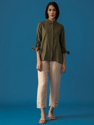 Olive Cotton Top