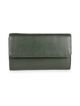 Olive Green Handcrafted Genuine Leather Wallet