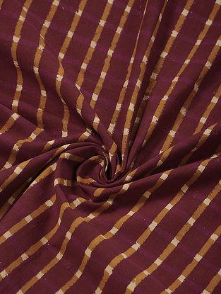 Madder-Yellow Block-printed Cotton Fabric