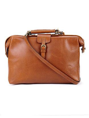 Tan Leather Handbag with sling