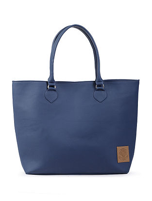 Blue Structured Tote