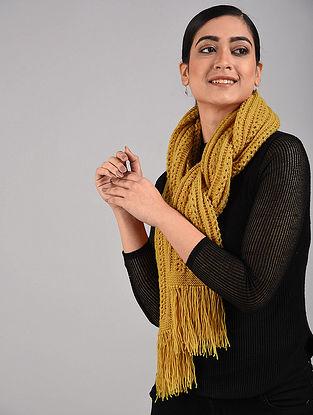 Yellow Hand Knitted Hand Knitted Wool Muffler