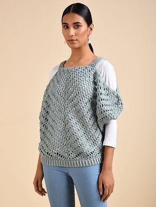 Grey Hand Crochet Wool Top