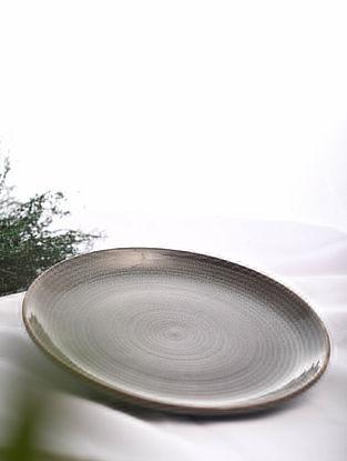 Brown Handmade Ceramic Plate (Dia - 10.5in)