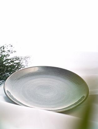 Brown Handmade Ceramic Plate (Dia - 8.3in)