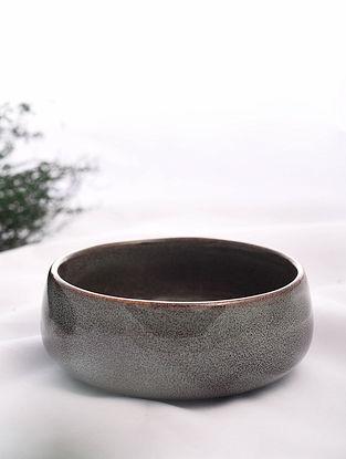 Brown Handmade Ceramic Bowl (Dia - 5.5in, H - 2in)