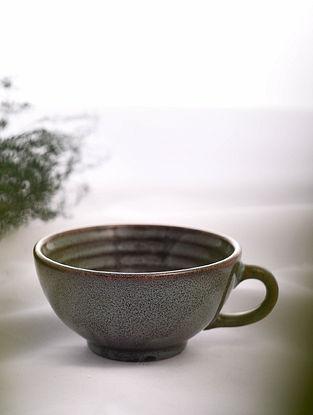 Brown Handmade Ceramic Cup (L - 5.5in, W - 4.6in, H - 2.3in)