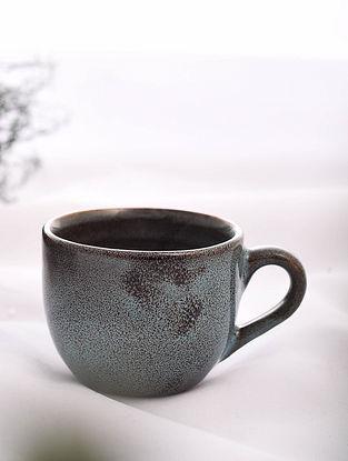 Brown Handmade Ceramic Cup (L - 4.2in, W - 3.2in, H - 2.5in)