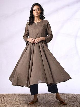 ISMA - Brown Cotton Kalidar Kurta