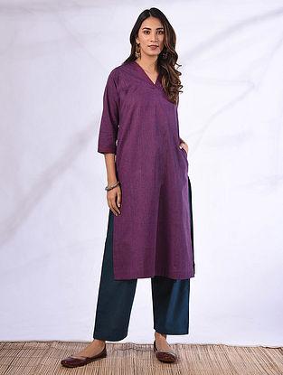 ANYUTHA - Purple Cotton Kurta with Pockets