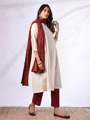 SACHI - Ivory Cotton kurta with Gathers