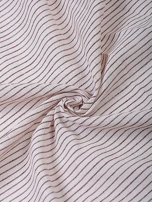 Ivory-Maroon Handloom Fabric