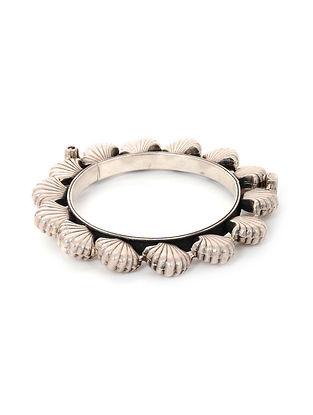 Tribal Silver Hinged Opening Bangle (Bangle Size: 2/8)