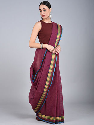 Mauve Handwoven Narayanpet Cotton Saree